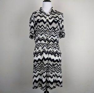 Diane von Furstenberg Monir Silk Zig Zag Dress